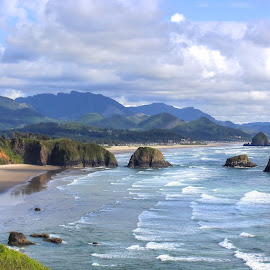 ocean by Brittany Todd - Landscapes Waterscapes ( oregon, waves, ocean, hike, coast )