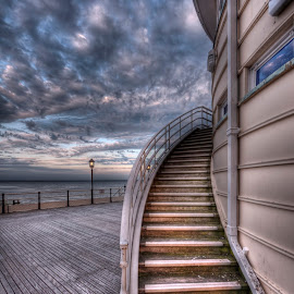stairs by Marcus Franklin - Buildings & Architecture Public & Historical ( seafront, wooden, pavillion, worthing, pier )