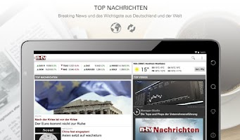 Screenshot of n-tv Nachrichten