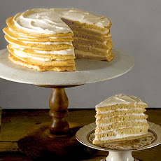 Pancake Cake with Maple Cream Frosting