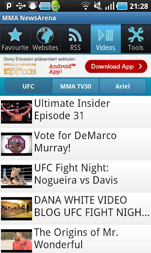 MMA NewsArena