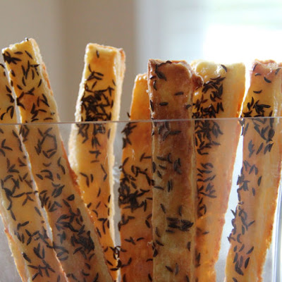 Cheese Sticks With Caraway Seed