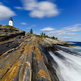 Light Houses in Maine I by Michael Otter - Landscapes Travel