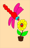 Screenshot of Coloring Book Insect-Kids game