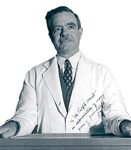 """1937. El """"simbalófono"""" de William J. Kerr, licenciado en Harvard y después director del departamento de medicina de la University of California, aunque consagrado al estudio de la cardiología y promotor del Cardiovascular Research Institute, describe su modelo en 1937 y obtiene la patente tres años después. Inspirado en el de Alison, utiliza dos membranas en lugar de las dos campanas de éste."""