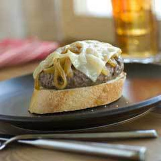 Open-faced French Onion Soup Burgers