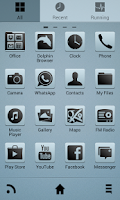 Screenshot of ClearView Go Launcher EX Theme