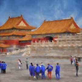 Once Upon A Time in China by Ferdinand Ludo - Digital Art Places ( beijing china, forbidden city )