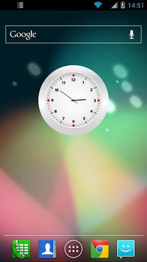 Simple White Clock Widget