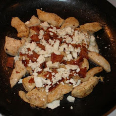 Jan's Pan Fried Chicken, Bacon and Feta Cheese