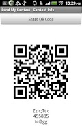 Screenshot of Send My Contact