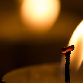 by Eva Kamienska-Carter - Abstract Fire & Fireworks ( candle, candlelight, candles, warmth, attraction, fire )