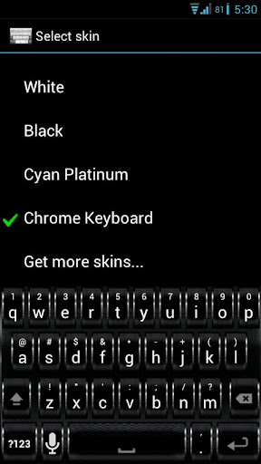【免費個人化App】Chrome Keyboard Skin-APP點子