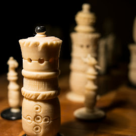 Ivory Chess by Sergio Yorick - Artistic Objects Other Objects ( artistic, chess, ivory, object, shadows )