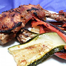 Orange BBQ Chicken With Grilled Vegetables