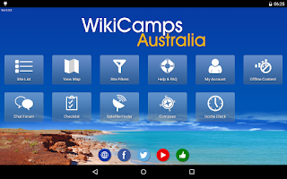 Screenshot of WikiCamps Australia