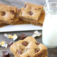 Peanut Butter Rolo Blondies