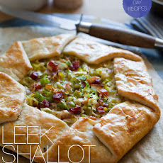 Caramelized Leek Shallot and Pancetta Galette