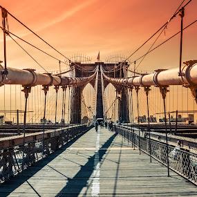 Brooklyn bridge by Nesrine el Khatib - Buildings & Architecture Bridges & Suspended Structures ( bridge, new york )