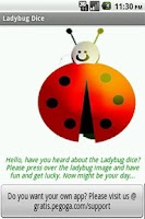 Screenshot of Ladybug Dice