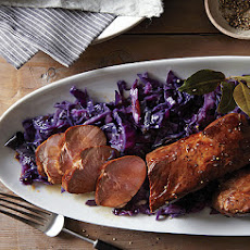 Beer-Marinated Pork Tenderloin with Red Cabbage