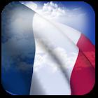3D France Flag + icon
