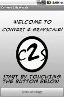 Screenshot of Convert 2 Grayscale