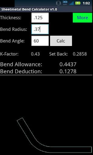 Sheetmetal Bend Calculator