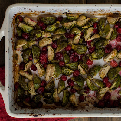 Roasted Brussels Sprouts with Cranberry Orange Marinade