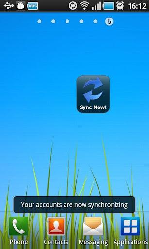 Sync Now Widget