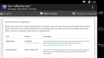 Screenshot of CanIAffordToBuy? Mortgage Calc