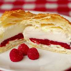 Raspberry Vanilla Ice Cream Puff Pastries
