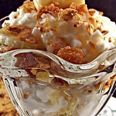 Cottage Cheese Banana Sundae