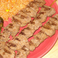 Broiled Marinated Beef Kabobs
