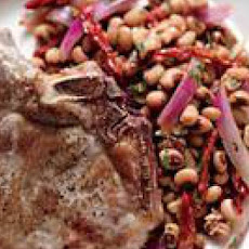 Pork Chops with Warm Black-Eyed Pea Salad