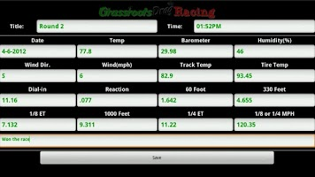 Screenshot of Grassroots Drag Racing