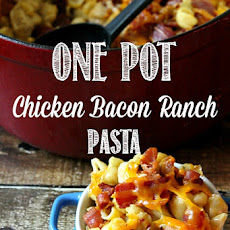 One Pot Chicken Bacon Ranch Pasta with Kraft Coupons