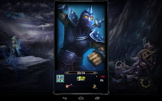 Screenshot of League of Leg. Lockscreen
