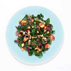 Chard with Blood Oranges and Pistachios