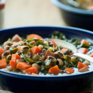 Black Eyed Pea and Collard Greens Soup