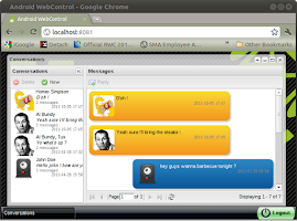 Screenshot of WebControl tablet and pc sms