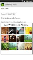 Screenshot of 123 Wedding Album