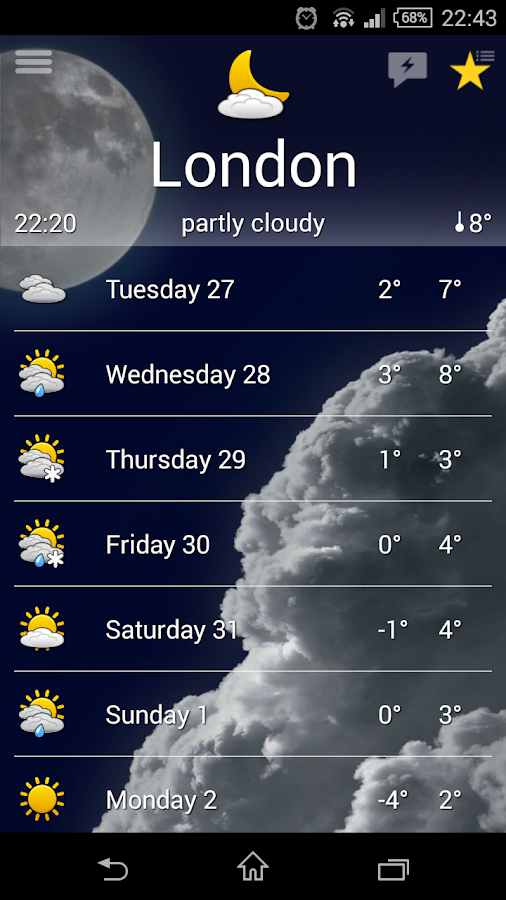 the Weather+ Screenshot 0