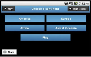 Screenshot of Quiz : World Capitals