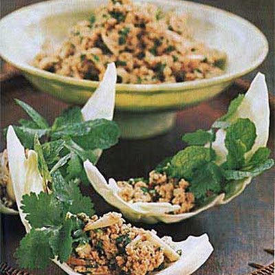 Thai Ground-Pork Salad with Mint and Cilantro