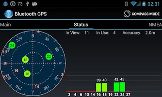Screenshot of Bluetooth GPS