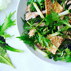 Sesame Chinese Chicken Salad with Asian Greens