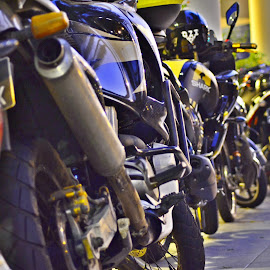 Bike Parking  by Abdul Salim - Transportation Motorcycles ( parking, bike, colorful, streetshot, transportation )
