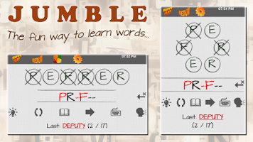 Screenshot of JUMBLE: Anagram Word Puzzle