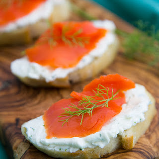 Smoked Salmon Tea Sandwiches (Canapés)